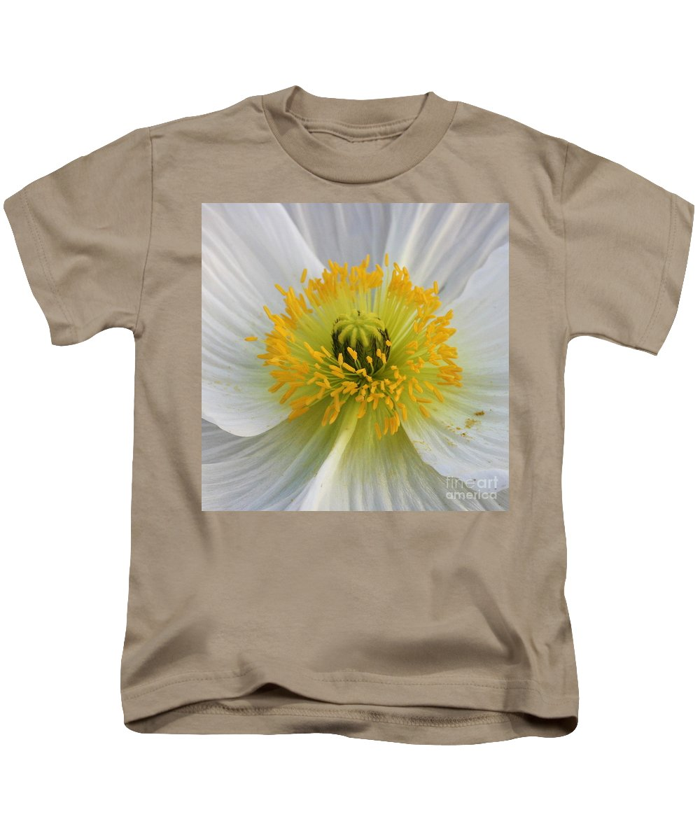 Flower Kids T-Shirt featuring the photograph Lovely White Flower Square by Carol Groenen