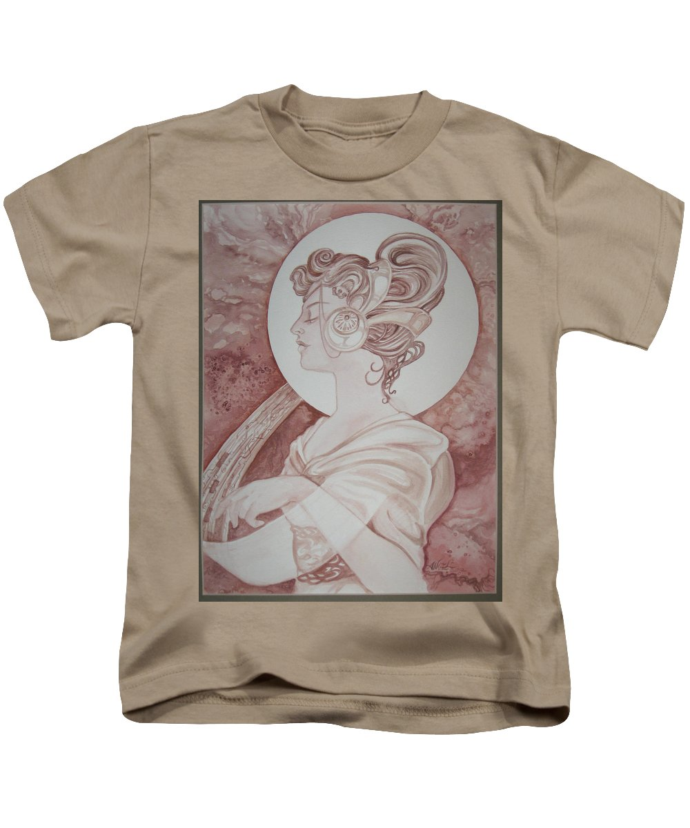 Fantasy Kids T-Shirt featuring the painting Maven by Angela Lowry