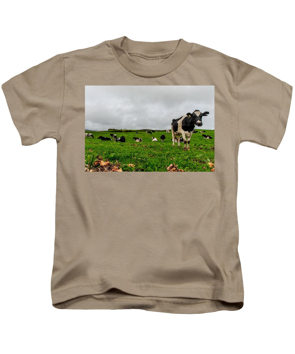 Agriculture Kids T-Shirt featuring the photograph Milk Nature Nose by Joseph Amaral