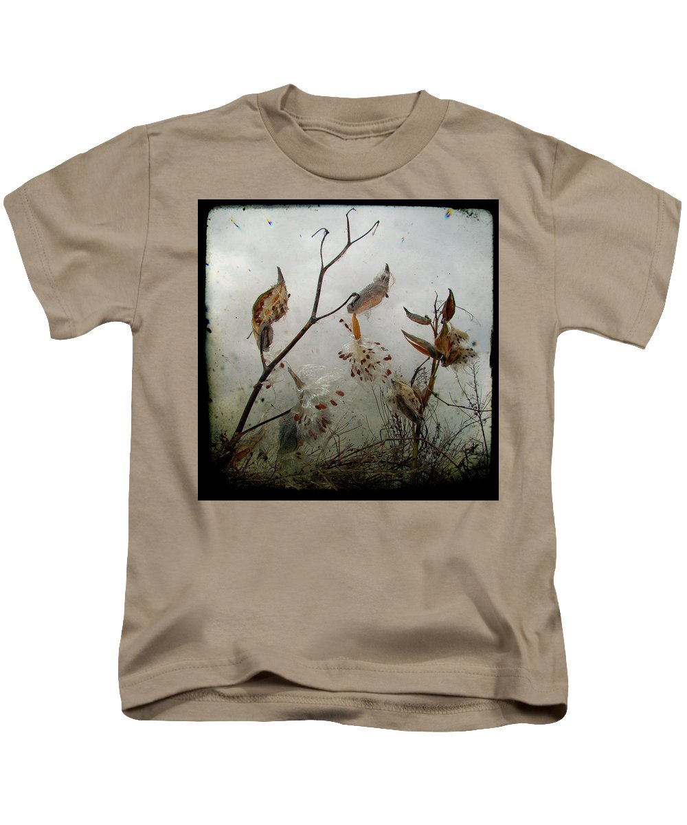 Milkweed Kids T-Shirt featuring the photograph Milky Milkweed by Gothicrow Images