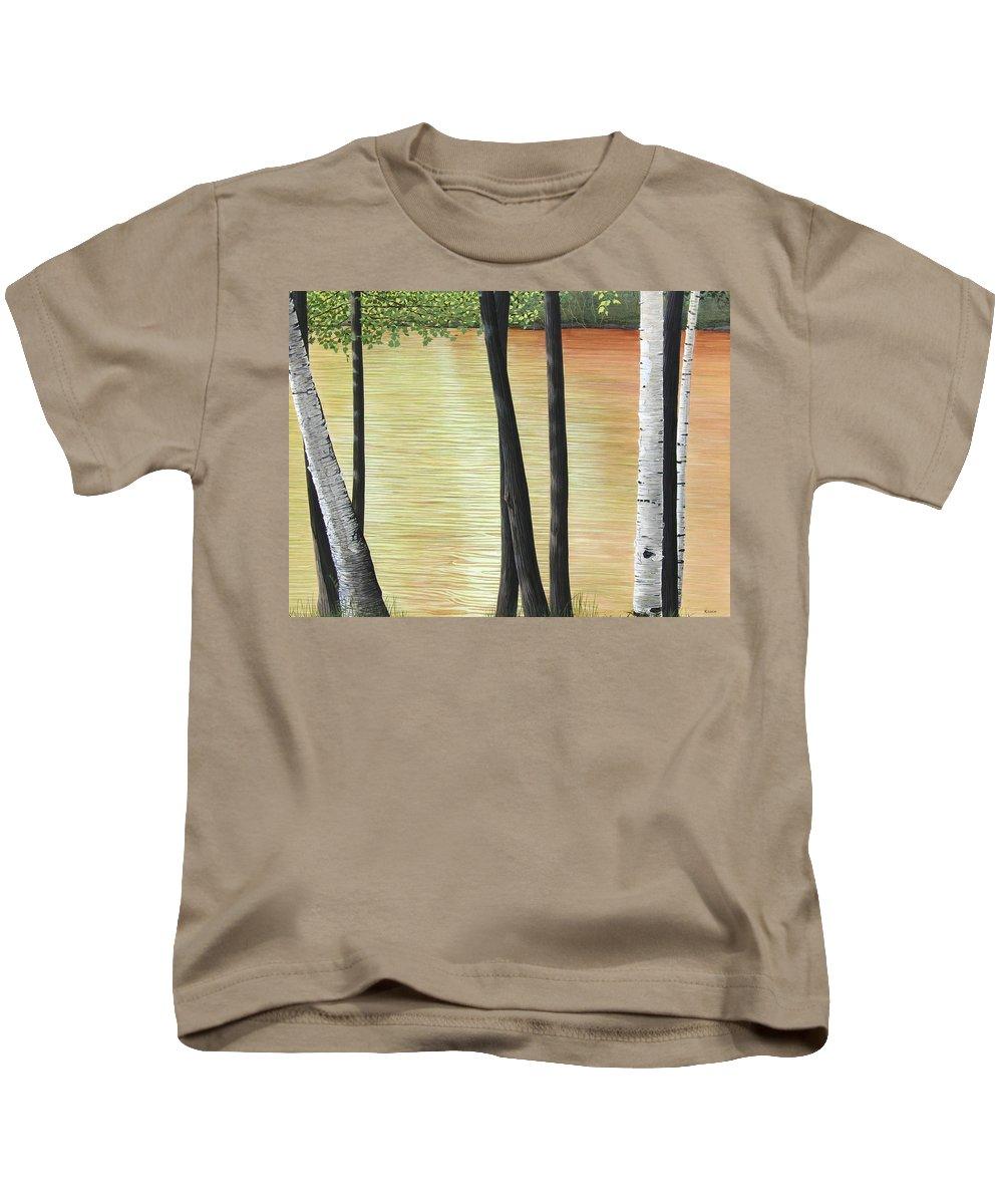 Landscape Kids T-Shirt featuring the painting Muskoka Lagoon by Kenneth M Kirsch