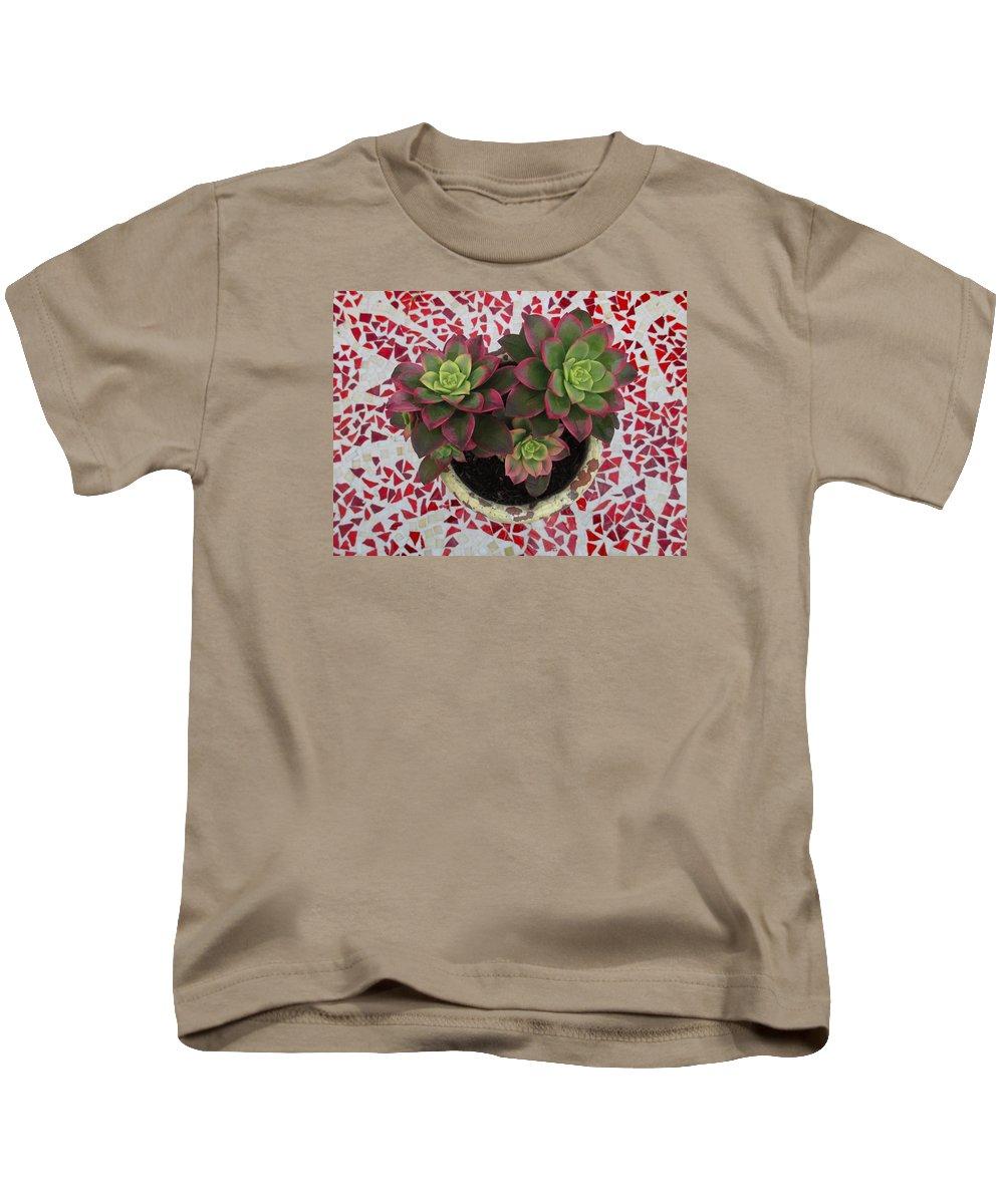 Garden Kids T-Shirt featuring the photograph My Garden Series - Mosaica by Alison Stein