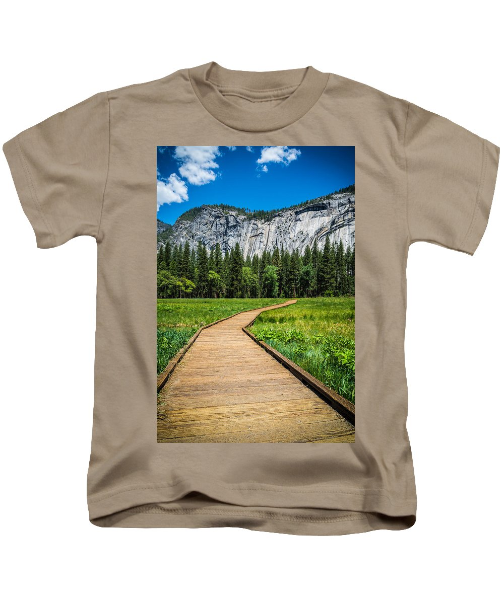 Yosemite Kids T-Shirt featuring the photograph My Kind Of Trail by Kristopher Schoenleber