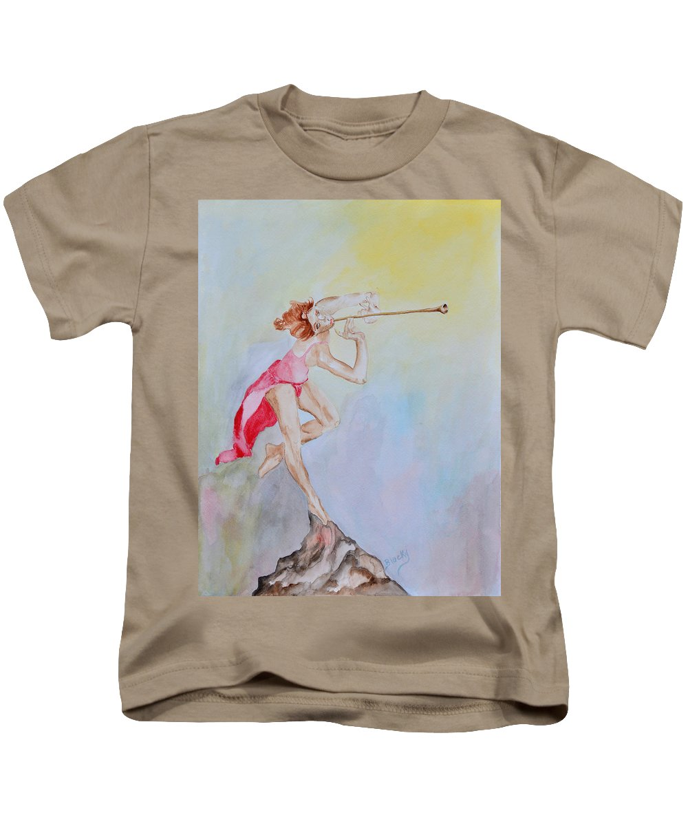 Painting Kids T-Shirt featuring the painting My Muse by Donna Blackhall