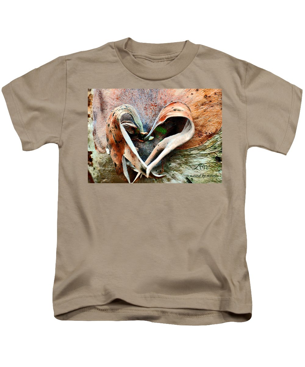 Nature Kids T-Shirt featuring the photograph Nature Has A Heart by Davids Digits