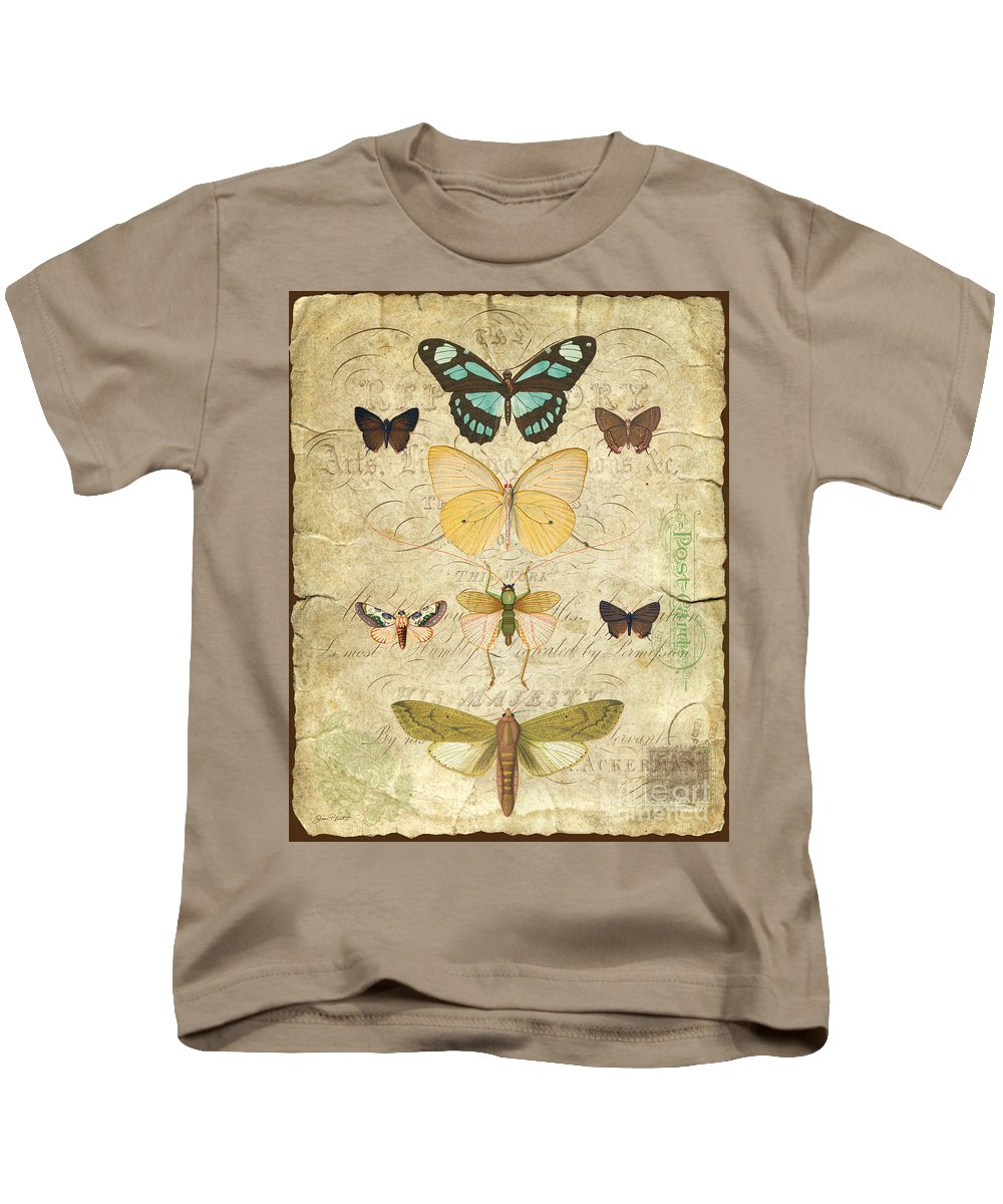 Butterfly Kids T-Shirt featuring the digital art Nature Study-no.1 by Jean Plout