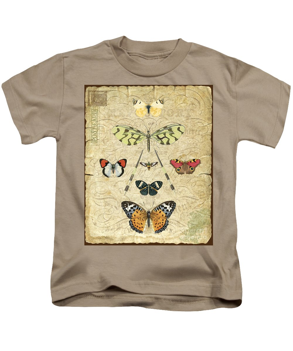 Butterfly Kids T-Shirt featuring the digital art Nature Study-no.2 by Jean Plout