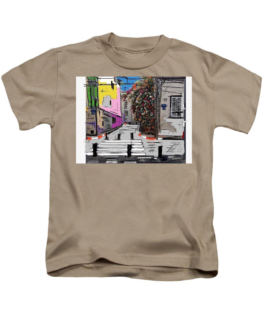 Fine Art Kids T-Shirt featuring the digital art Neveh Tzedek by Ricardo Mester