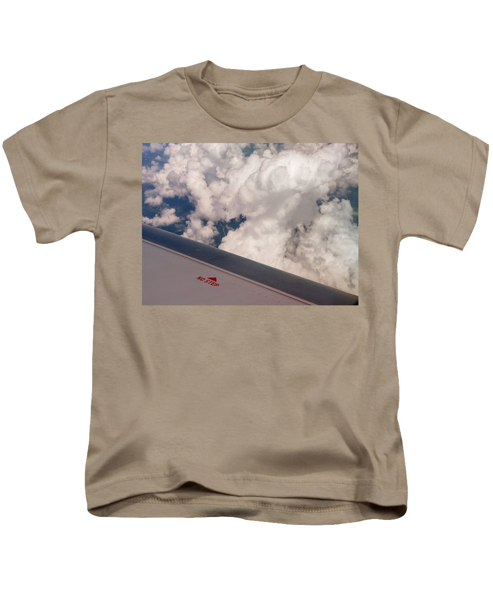 Aviation Kids T-Shirt featuring the photograph No Step by Guy Whiteley
