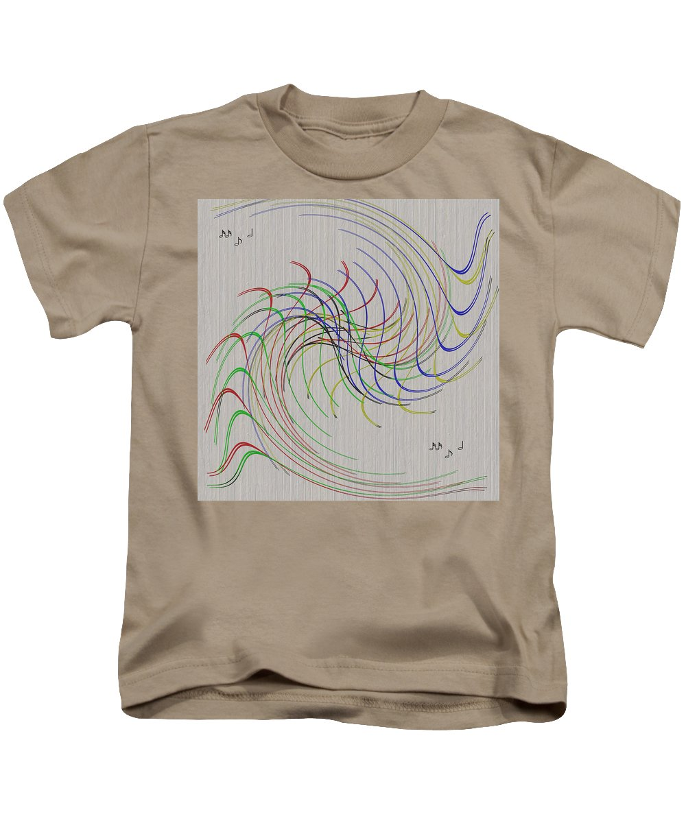 Abstract Kids T-Shirt featuring the digital art Noted Patterns by John Haldane