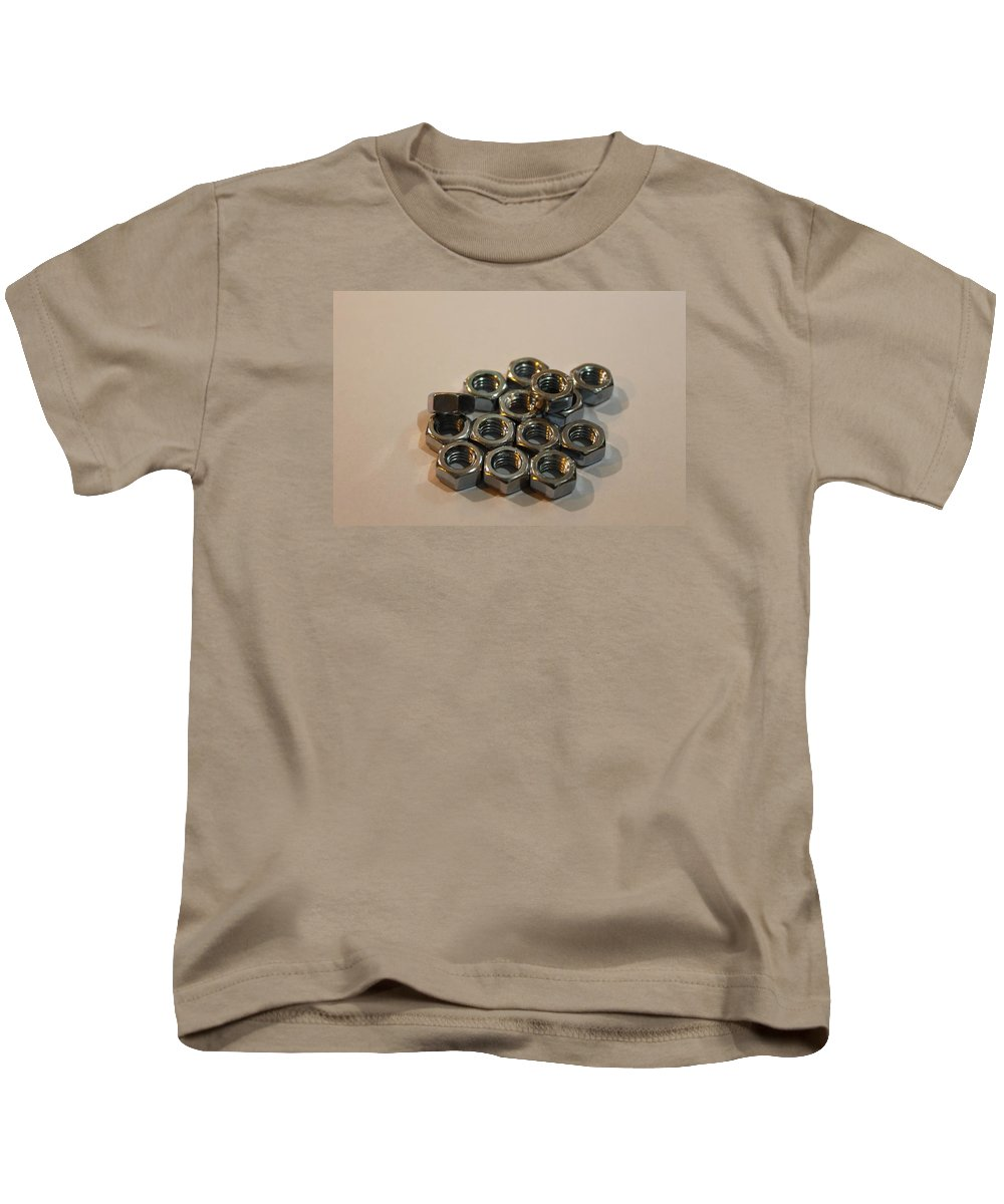 Nuts Kids T-Shirt featuring the photograph Nuts And Bolts by FL collection