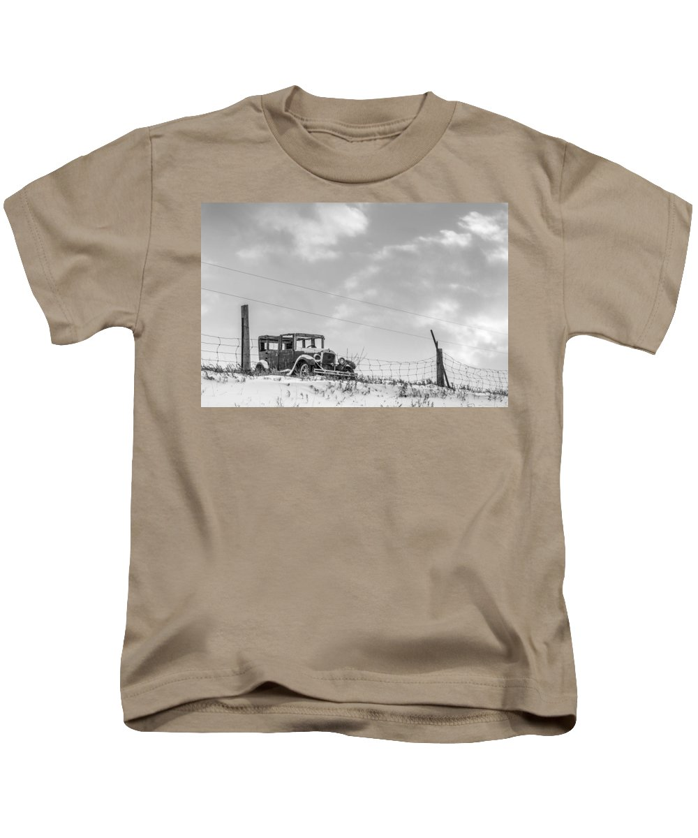 Old Car Kids T-Shirt featuring the photograph Old Car by Richard Kitchen
