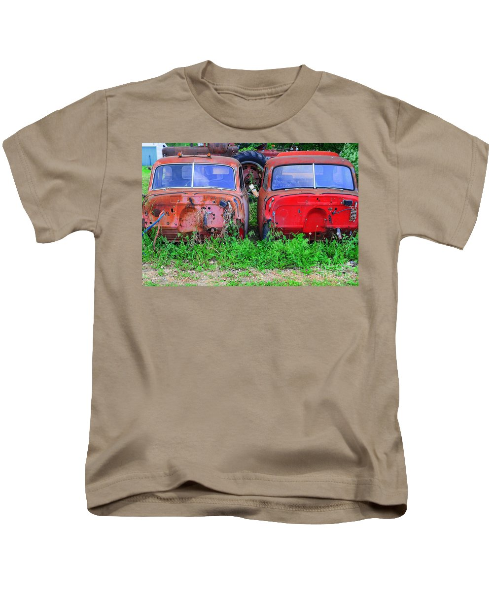 Old Kids T-Shirt featuring the photograph Old Cars by Kathleen Struckle