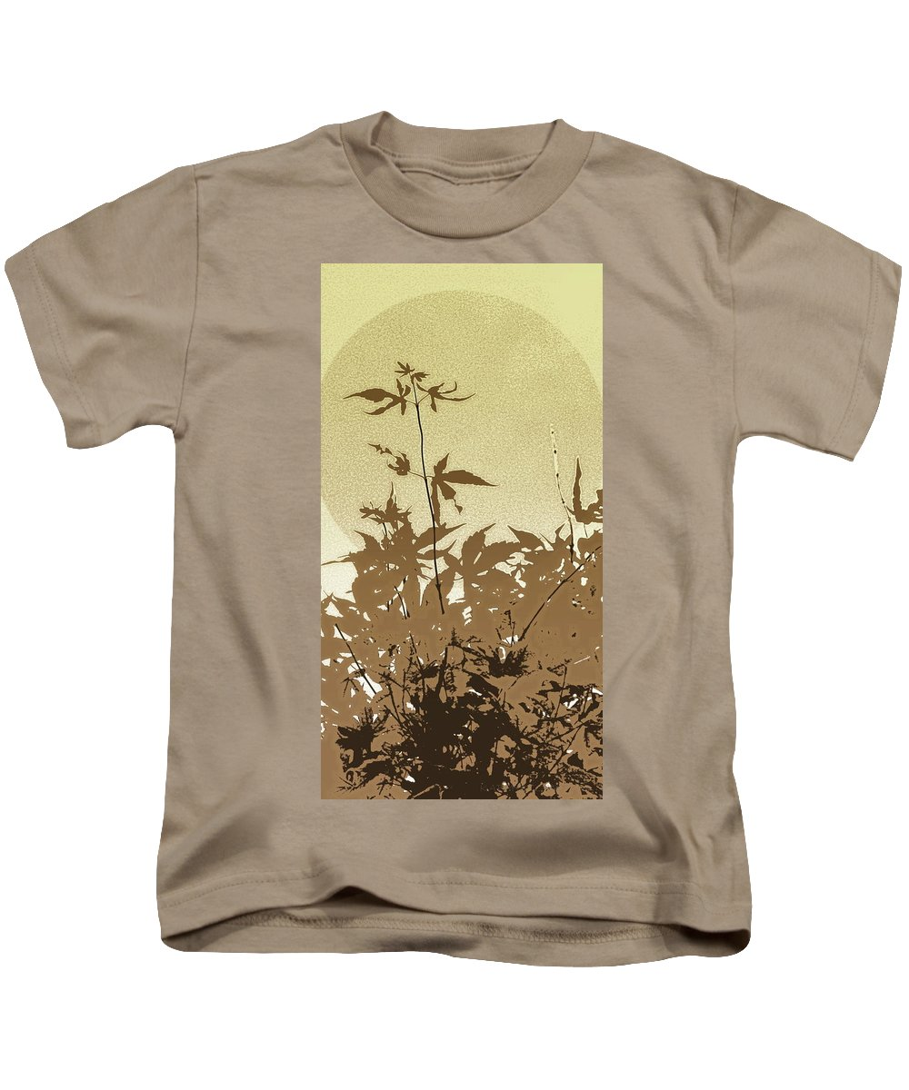 Leaves Kids T-Shirt featuring the photograph Olive And Brown Haiku by Kathy Barney