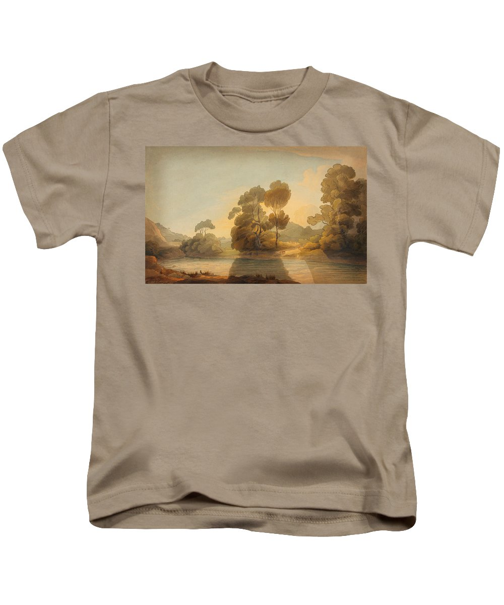 On The Deefrancis Towne Kids T-Shirt featuring the painting On The Dee by Celestial Images