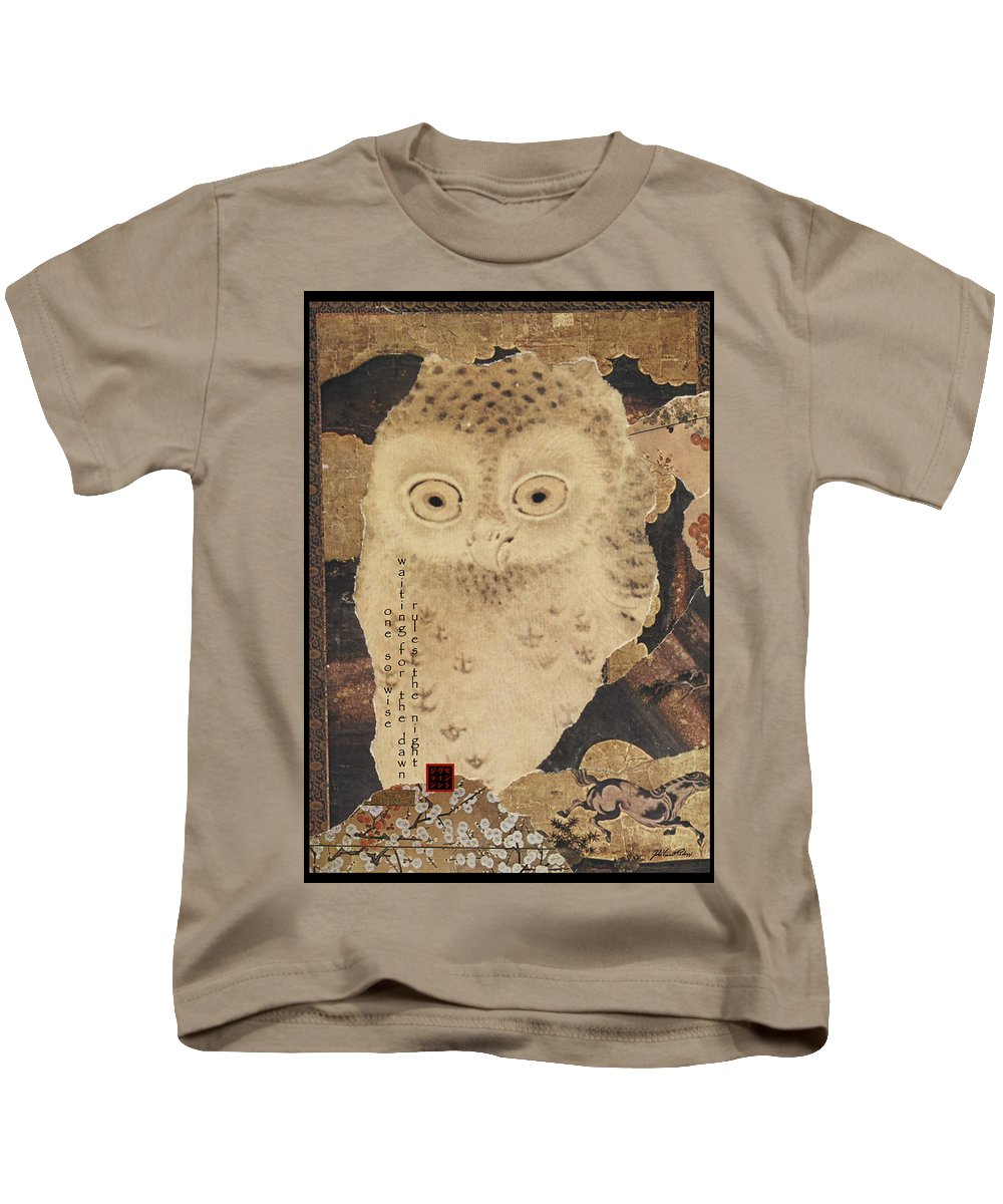 Collage Kids T-Shirt featuring the digital art One So Wise by John Vincent Palozzi