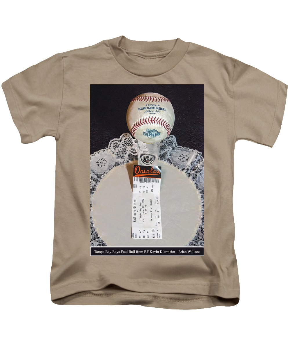 2d Kids T-Shirt featuring the photograph Orioles 60 Yr Anniversary by Brian Wallace