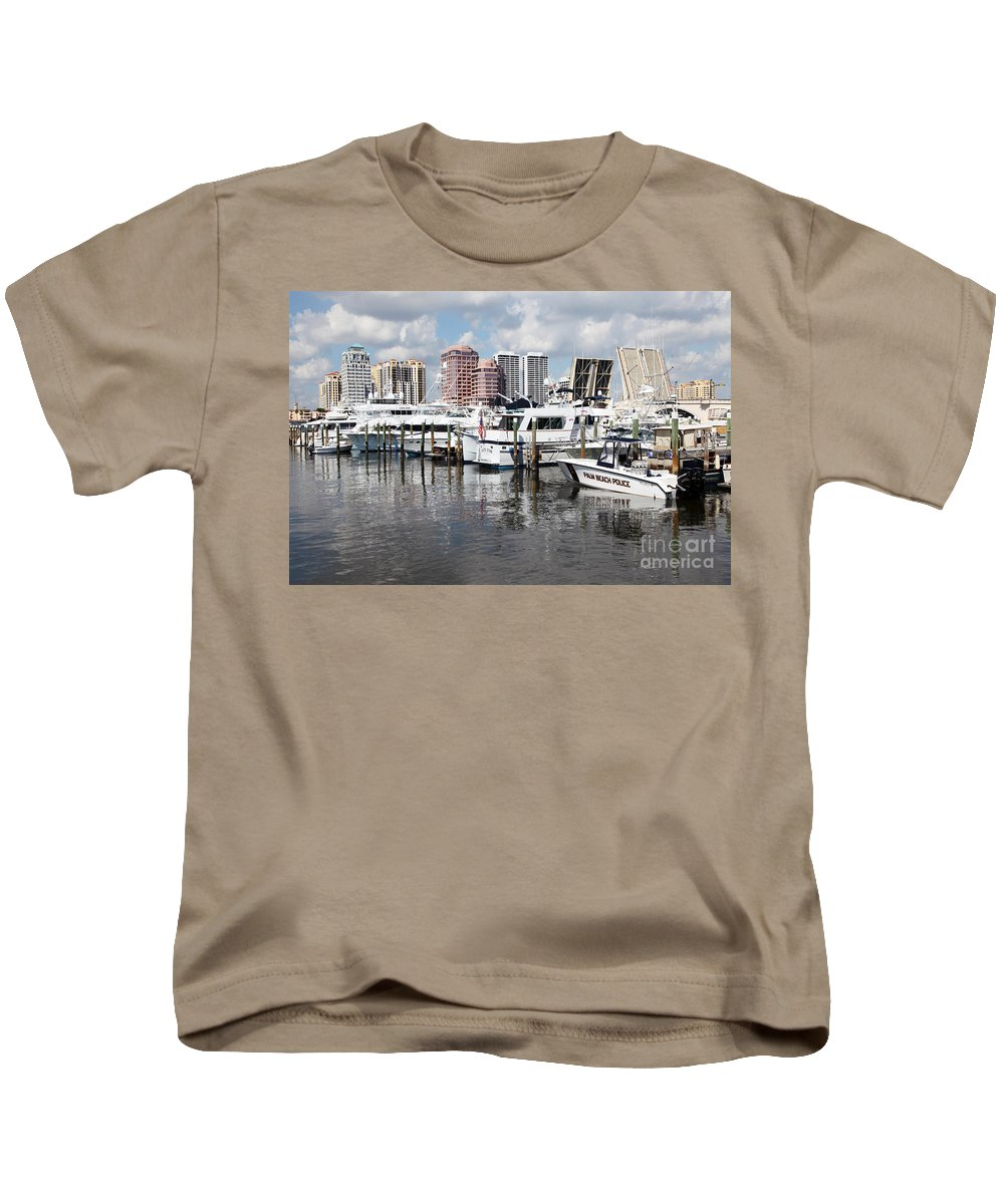Docks Kids T-Shirt featuring the photograph Palm Beach Docks by Bill Cobb