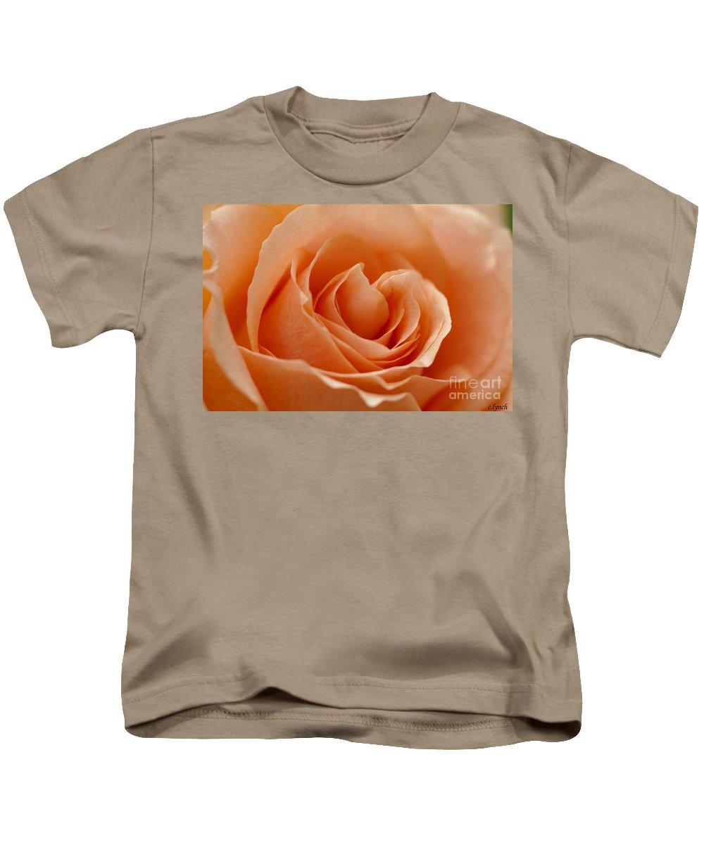 Peach Kids T-Shirt featuring the photograph Peach by Carol Lynch