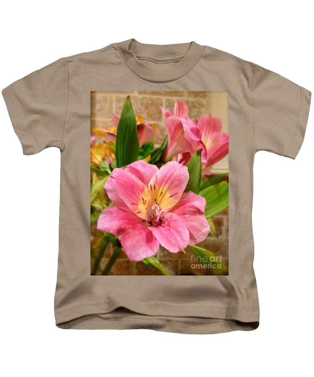 Beauty Kids T-Shirt featuring the photograph Pink And Yellow Flowers by Christy Gendalia