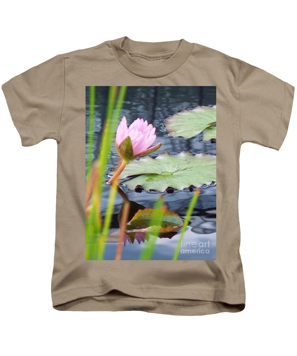 Photograph Kids T-Shirt featuring the photograph Pink Lily And Pads by Eric Schiabor