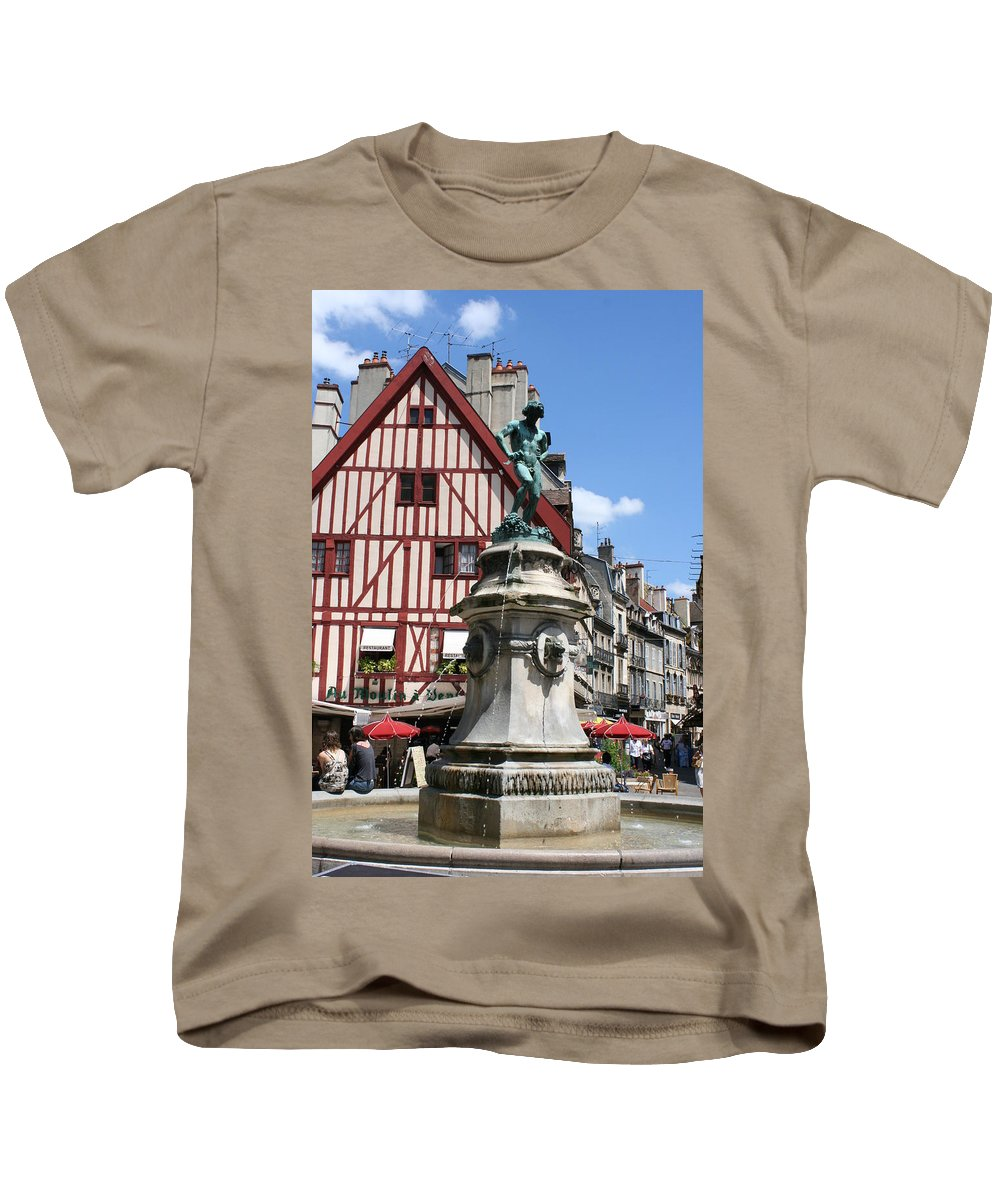 Frame House Kids T-Shirt featuring the photograph Place Francois Rude - Dijon by Christiane Schulze Art And Photography