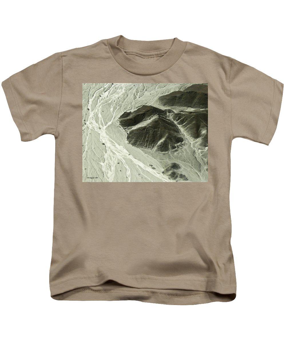 Peru Kids T-Shirt featuring the photograph Plains Of Nazca - The Astronaut by Allen Sheffield