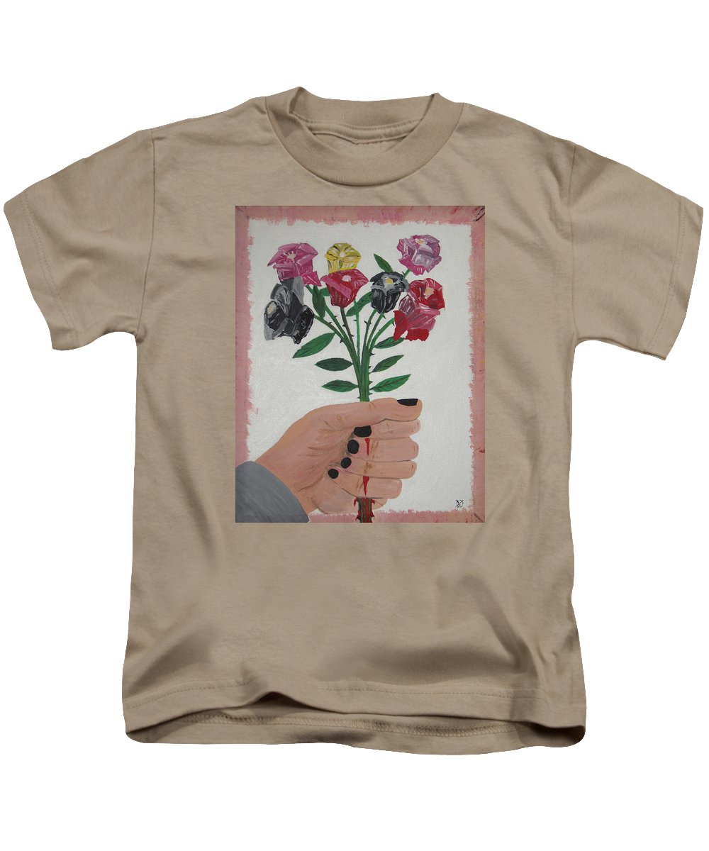 Painting Kids T-Shirt featuring the painting Point Of Beauty by Dean Stephens
