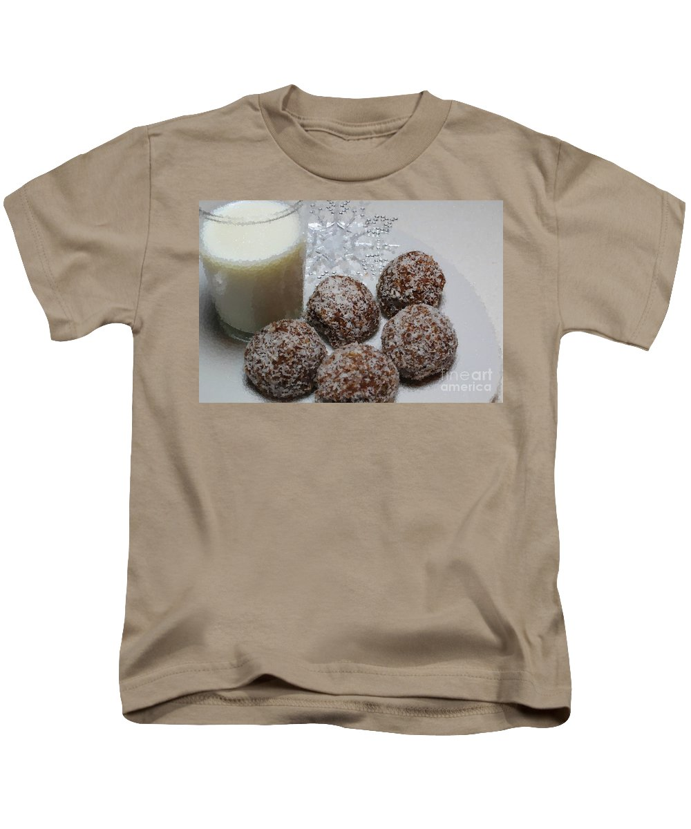 Polka Dot Snow Balls And Milk Kids T-Shirt featuring the photograph Polka Dot Snow Balls And Milk by Barbara Griffin