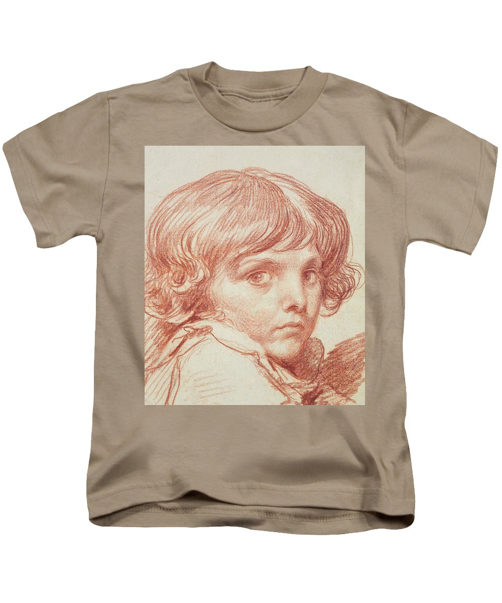 Portrait Of A Young Boy Kids T-Shirt featuring the drawing Portrait Of A Young Boy by Claude Lorrain