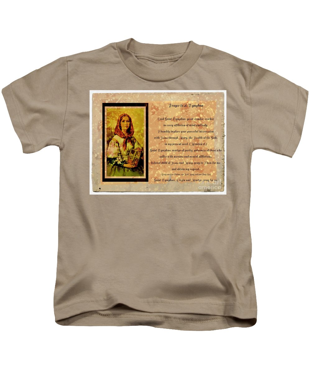 Prayer To St. Dymphna 2 Kids T-Shirt featuring the photograph Prayer To St. Dymphna 2 by Barbara Griffin