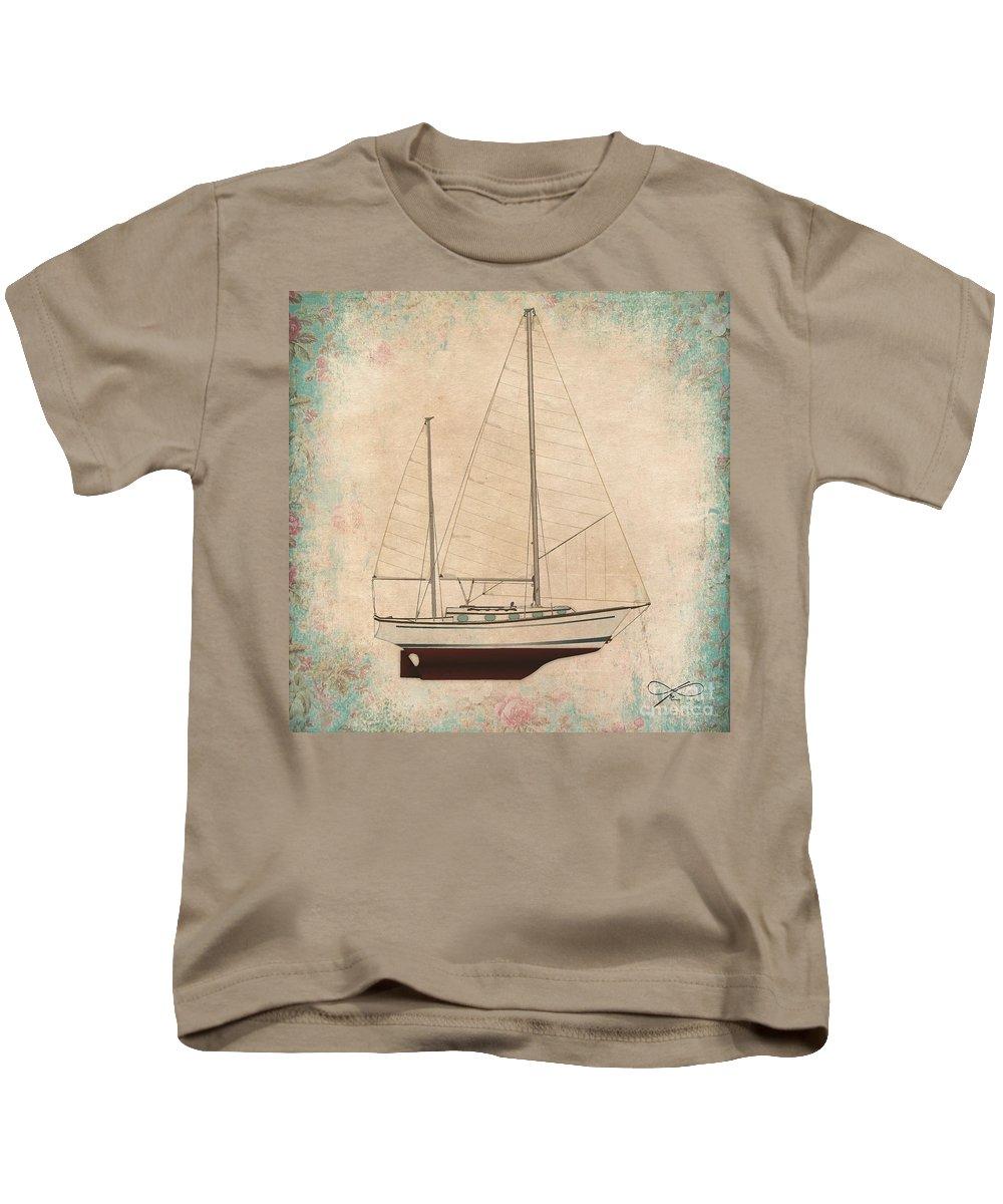 Regina Gallant Kids T-Shirt featuring the drawing Princess Rose by Regina Marie Gallant