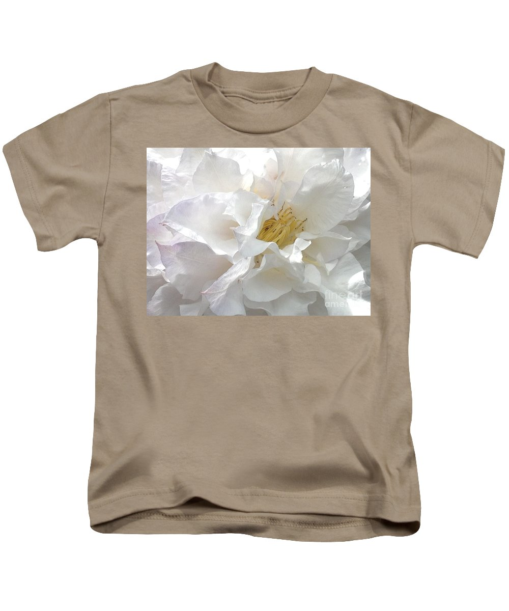 White Kids T-Shirt featuring the photograph Pure White by Jacklyn Duryea Fraizer