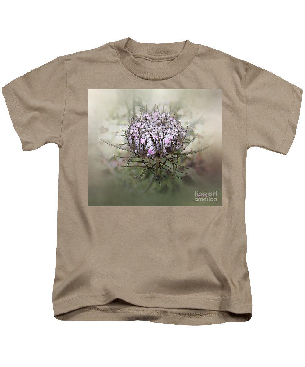 Queen Anne's Lace Kids T-Shirt featuring the digital art Queen Of The Mist by RC DeWinter
