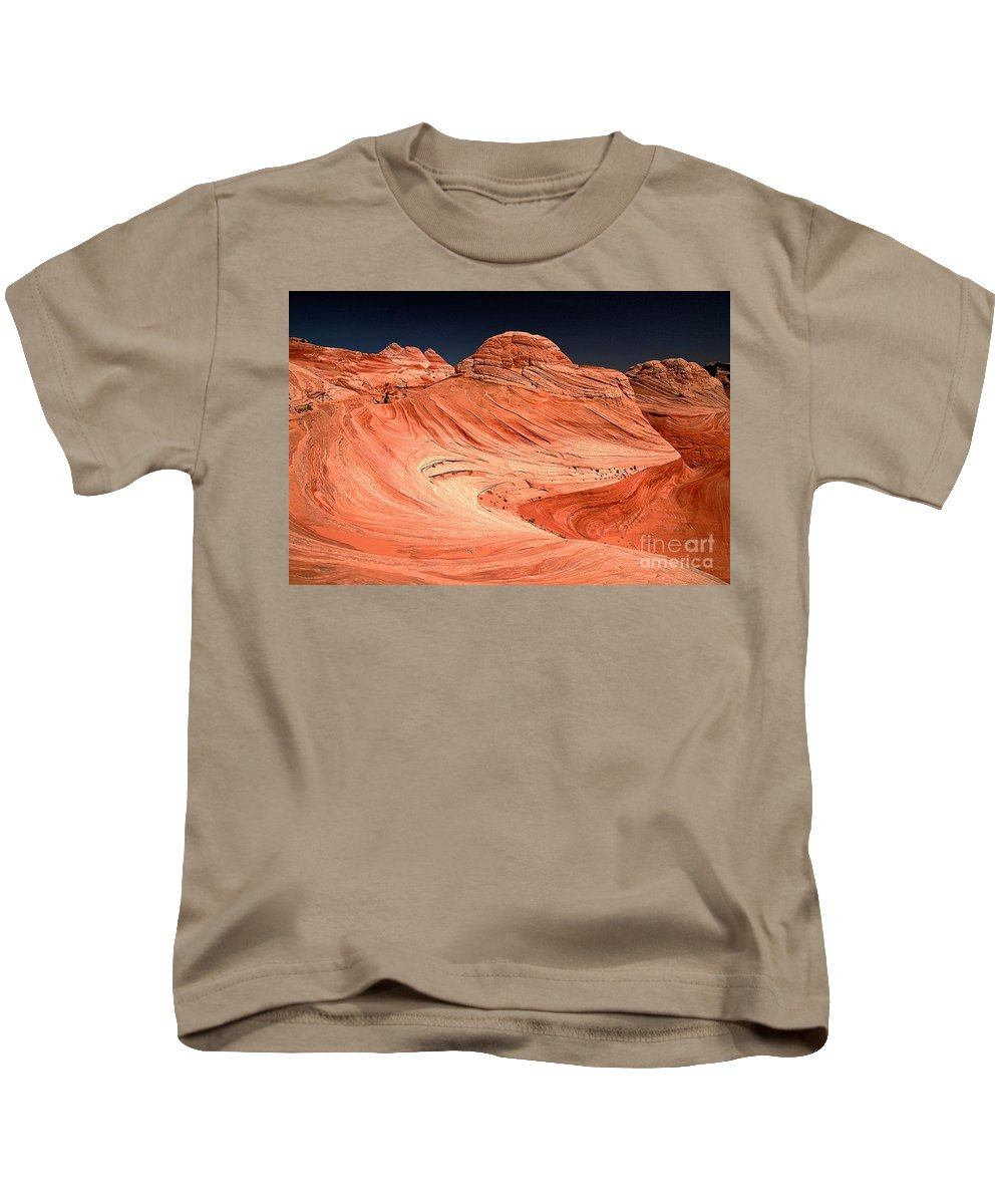 Coyote Buttes Kids T-Shirt featuring the photograph Red Canyon Swirls by Adam Jewell
