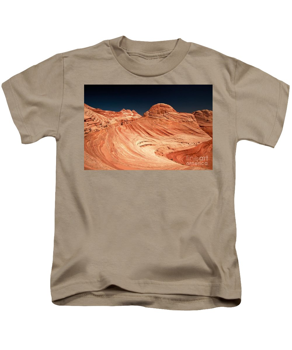 Coyote Buttes Kids T-Shirt featuring the photograph Red Desert Swirls by Adam Jewell