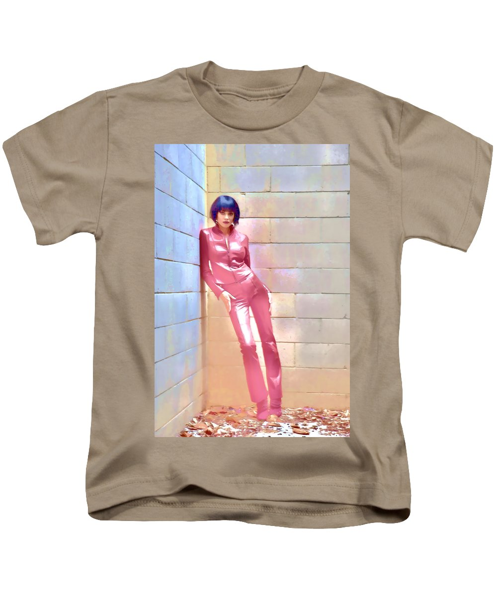 Red Kids T-Shirt featuring the photograph Red Leather And Leaves by Hugh Smith