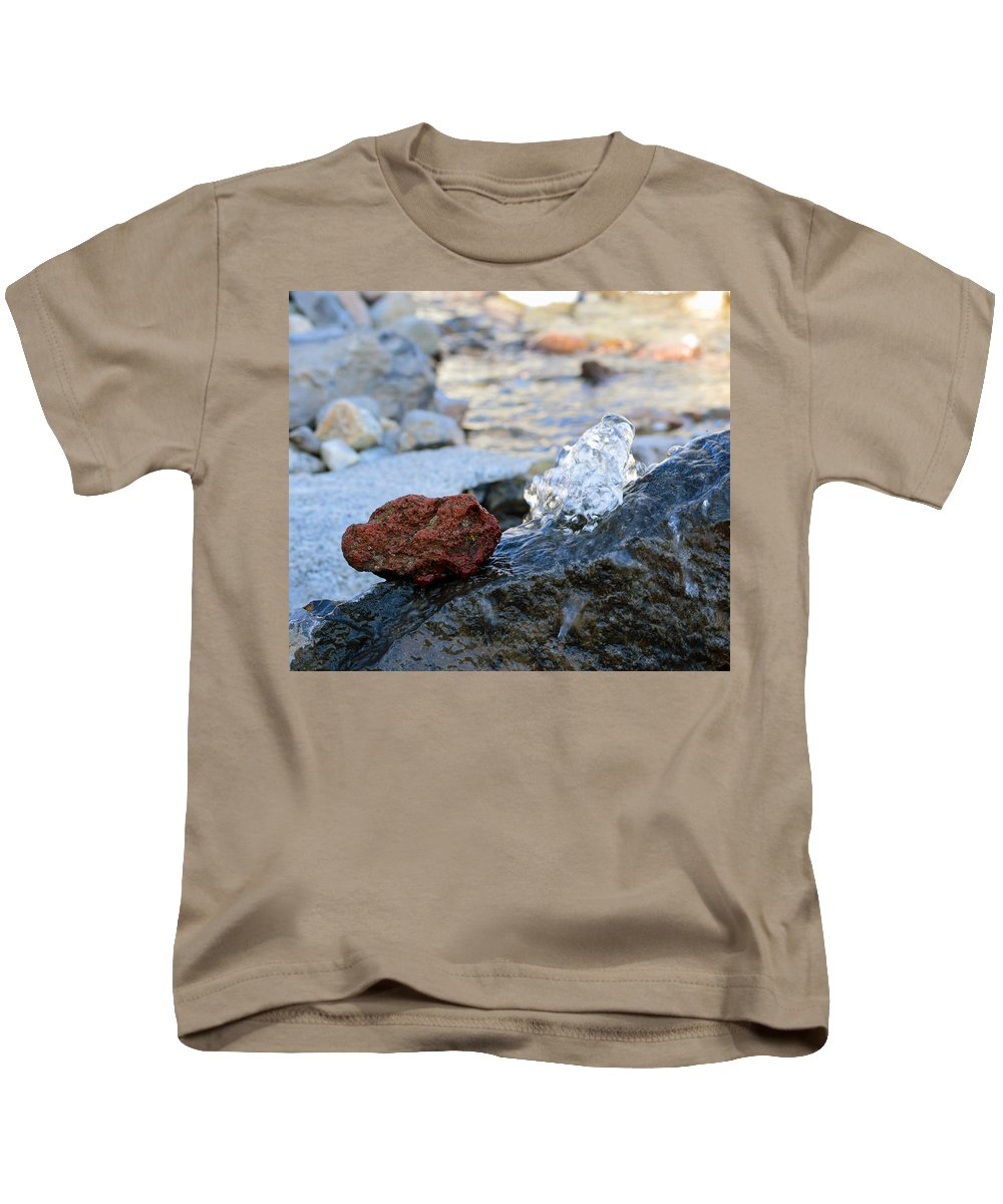 Water Kids T-Shirt featuring the photograph Red Rock And Crystal Water by Brent Dolliver