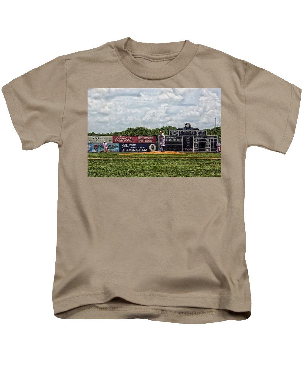 Rickwood Classic Kids T-Shirt featuring the photograph Rickwood Classic Baseball - Birmingham Alabama by Mountain Dreams
