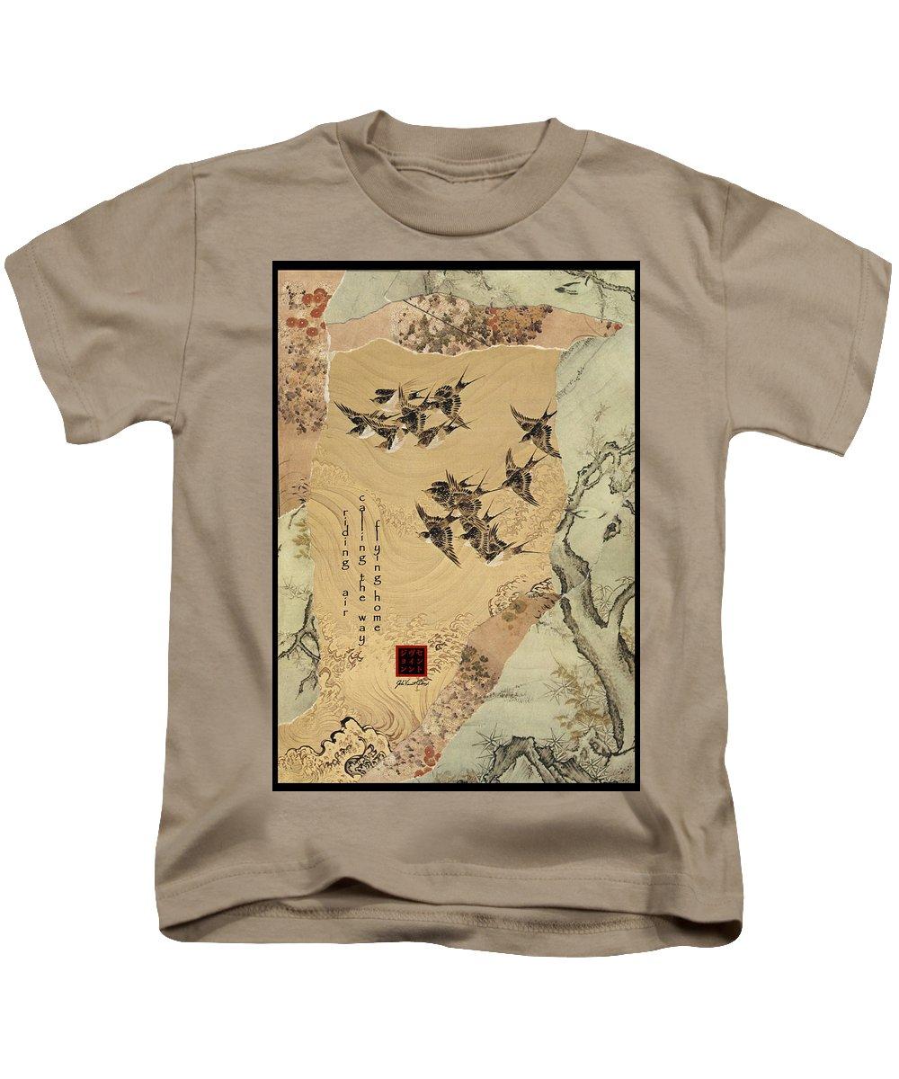 Collage Kids T-Shirt featuring the digital art Riding Air by John Vincent Palozzi