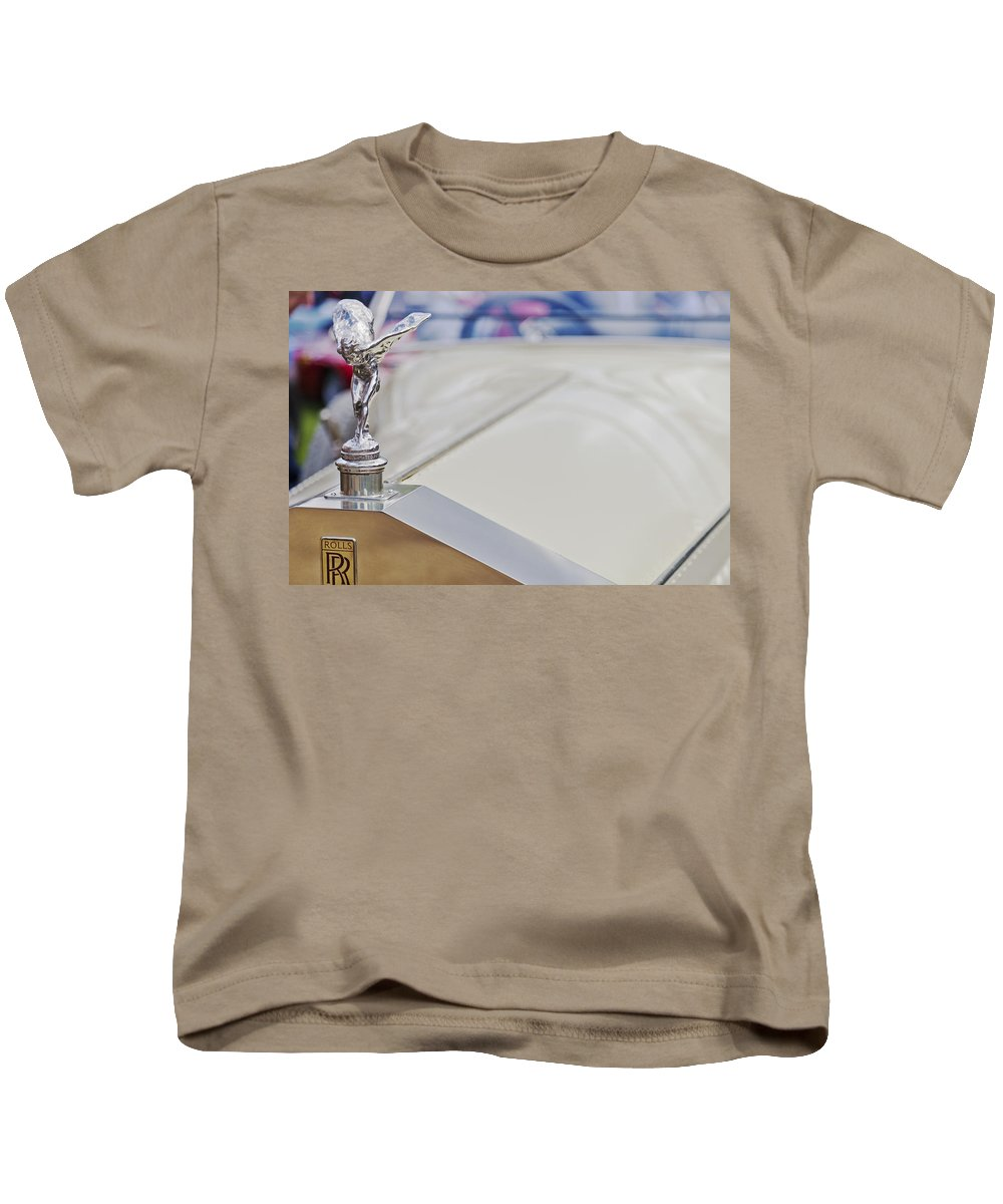 Rolls Royce Kids T-Shirt featuring the photograph Rolls Royce Silver Ghost The Spirit Of Ecstasy by Maj Seda