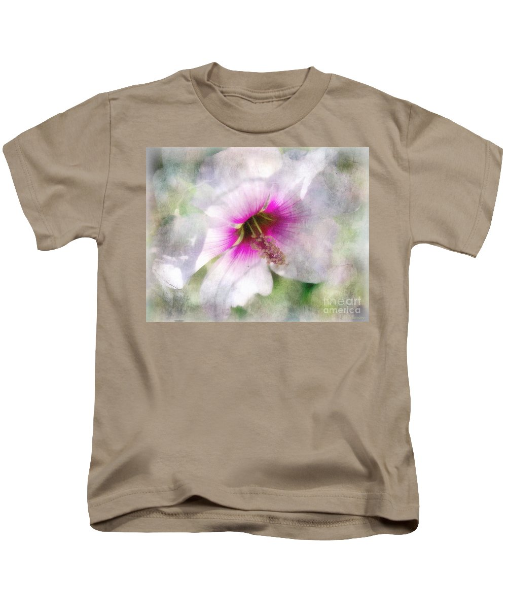 Rose Of Sharon Kids T-Shirt featuring the painting Rose Of Sharon by Barbara Chichester