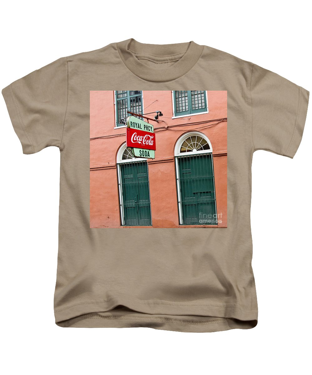 New Orleans Kids T-Shirt featuring the photograph Royal St. Pharmacy by Scott Pellegrin