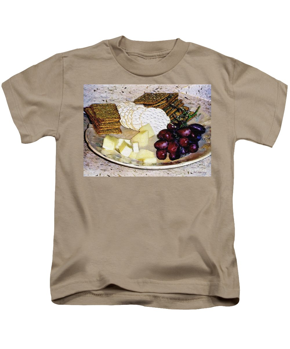 Cheese Kids T-Shirt featuring the painting Rustic Repast by RC DeWinter