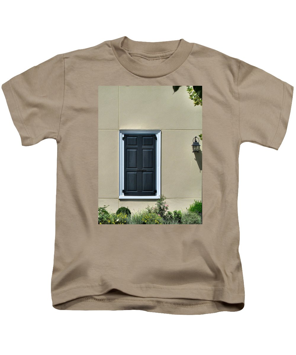 Window Kids T-Shirt featuring the photograph Safe From The Approaching Storm by Lin Grosvenor