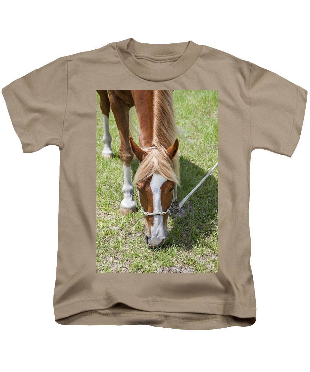 Rocking Horse Stables Kids T-Shirt featuring the photograph Salad Of Greens by Rich Franco