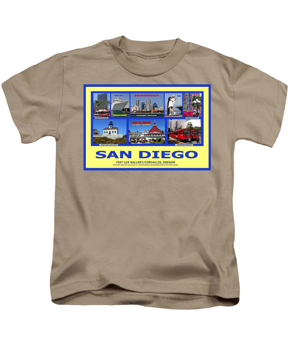 San Diego Kids T-Shirt featuring the photograph San Diego Composite by Michael Moore