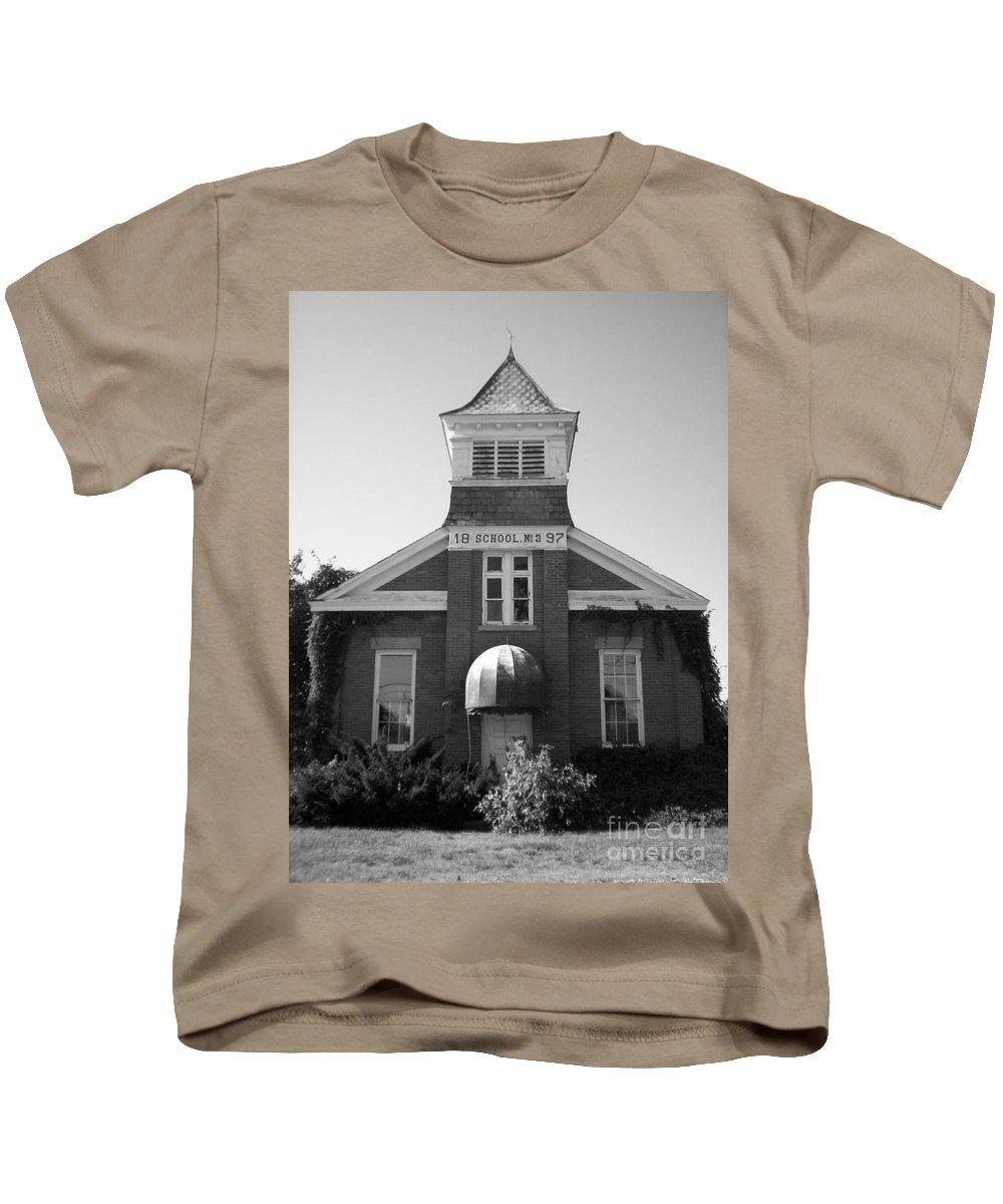 School House Kids T-Shirt featuring the photograph School House by Michael Krek