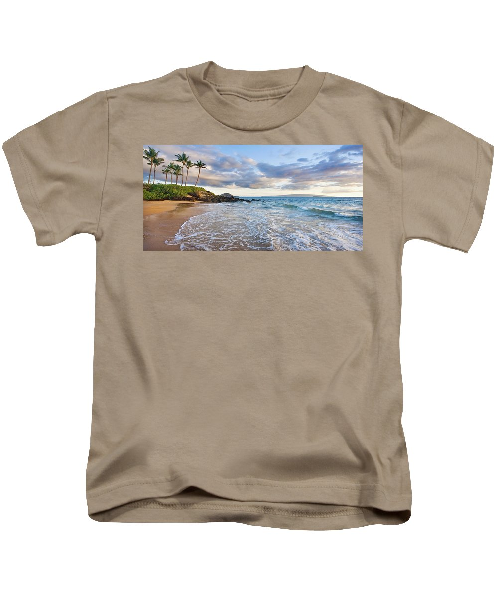 Afterglow Kids T-Shirt featuring the photograph Secret Beach 2 by M Swiet Productions