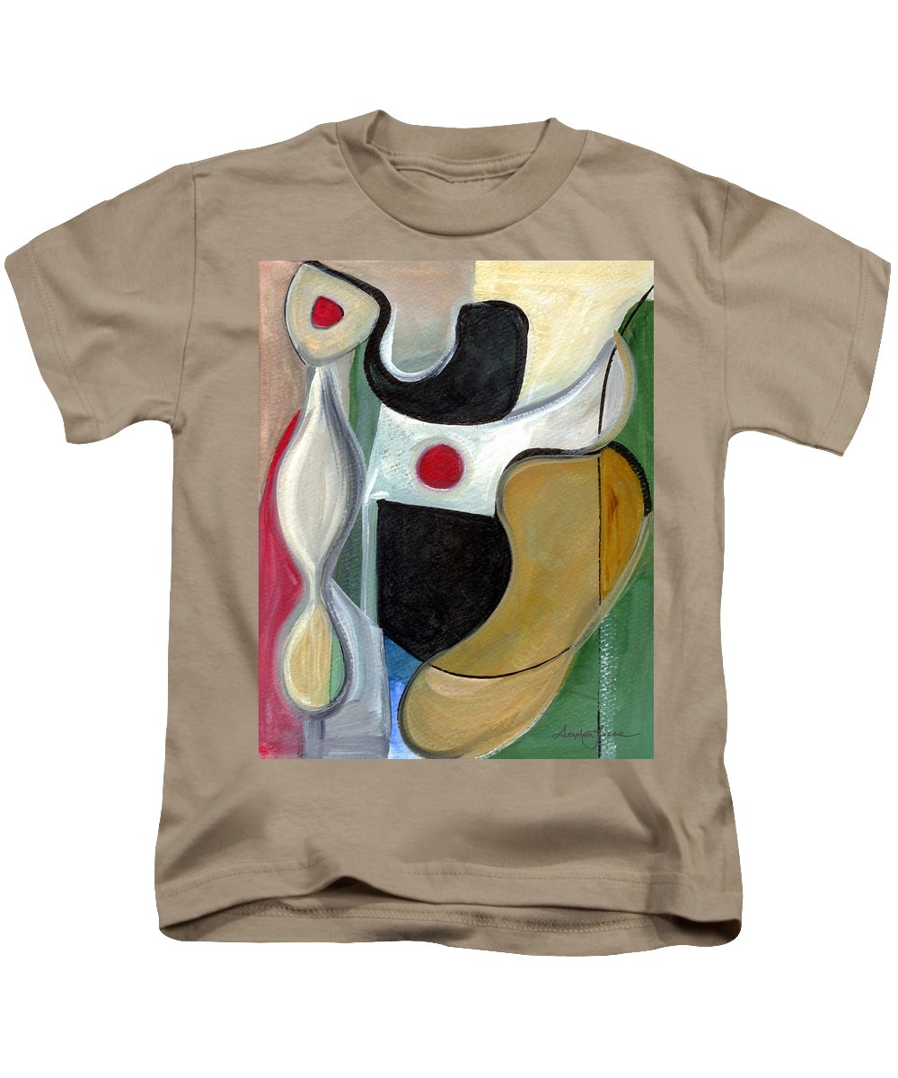 Abstract Art Kids T-Shirt featuring the painting Sensuous Beauty by Stephen Lucas
